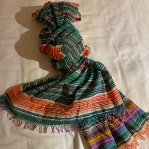 Roots Thin Pattered Scarf